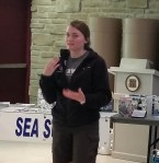 Central Region Boatswain Katie Bruton Speaks at a training session.
