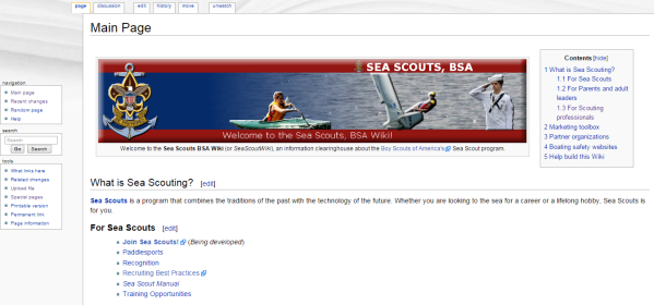The New wiki.seascout.org